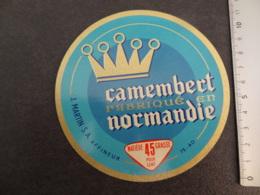 Etiquette De Camembert J. Martin - Cheese