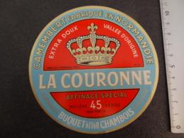 Etiquette De Camembert La Couronne Buquet à Chambois Pays D'Auge - Cheese