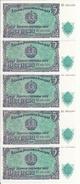 BULGARIE 5 LEVA 1951 UNC P 82 ( 5 Billets ) - Bulgarien