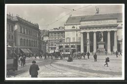 AK Genova, Piazza De Ferrari E Tram, Strassenbahn - Tramways