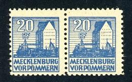 SBZ Mecklenburg-V. Paar MiNr. 38 Y C Postfrisch Oder Falz Fotoattest (MA1003 - Zona Sovietica