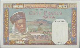 Algeria / Algerien: Banque De L'Algérie 100 Francs 1945, P.88, Tiny Dint At Upper Right Corner, Othe - Algerije