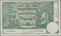 Belgium / Belgien: Pair With 20 Francs 1905 P.62d (F/F-) And 50 Francs 1919 P.68b (VF). (2 Pcs.) - Belgium