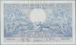 Belgium / Belgien: 10.000 Francs = 2000 Belgas 1938, P.105, Highest Denomination Of This Series And - [ 1] …-1830 : Before Independence
