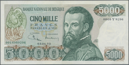 Belgium / Belgien: 5000 Francs ND(1971-77), P.137, Excellent Condition With Soft Vertical Bend At Ce - Belgium