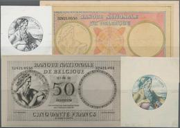 Belgium / Belgien: Banque Nationale De Belgique, Highly Rare Set Including A Photographic Front Proo - Belgium