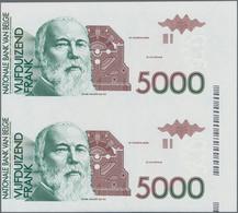 Belgium / Belgien: Nationale Bank Van Belgie 3 Uncut Pairs With Progressive Proofs For The 5000 Fran - [ 1] …-1830 : Before Independence