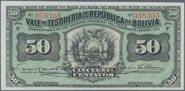 Bolivia / Bolivien: Very Nice Group With 8 Banknotes Comprising 50 Centavos 1902 P.91 (UNC), 1 Boliv - Bolivia