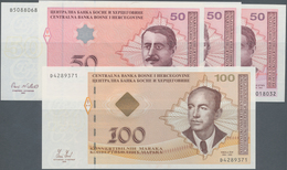 Bosnia & Herzegovina / Bosnien & Herzegovina: Very Nice Set With 4 Banknotes Comprising 50 Maraka 20 - Bosnia Y Herzegovina