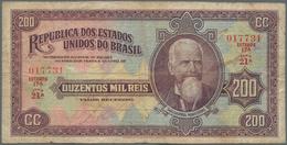 Brazil / Brasilien: República Dos Estados Unidos Do Brasil 200 Mil Reis ND(1936), P.82, Still Nice A - Brazil