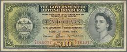British Honduras: Government Of British Honduras 10 Dollars April 1st 1964, P.31b, Still A Nice Note - Honduras