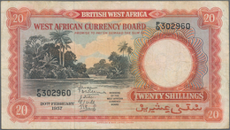 British West Africa: Lot With 3 Banknotes Of The West African Currency Board Containing 10 Shillings - Banknotes