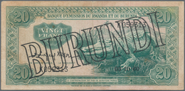 Burundi: Banque D'Émission Du Rwanda Et Du Burundi (Banque Du Royaume Du Burundi) 20 Francs 1960, P. - Burundi