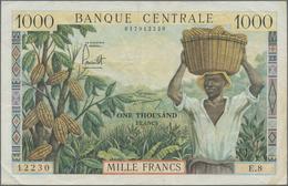 Cameroon / Kamerun: Banque Central - République Fédérale Du Cameroun 1000 Francs ND(1962), P.12a, Ve - Kameroen