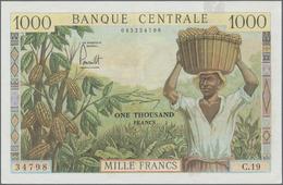 Cameroon / Kamerun: Banque Central - République Fédérale Du Cameroun 1000 Francs ND(1962), P.12b, Gr - Kamerun