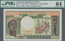 Cameroon / Kamerun: Banque Des États De L'Afrique Centrale - République Fédérale Du Cameroun 10.000 - Kameroen