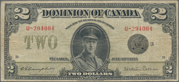 Canada: Dominion Of Canada 2 Dollars 1923, P.34j, Still Nice With A Number Of Folds And Creases And - Canada