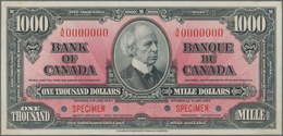 Canada: Bank Of Canada / Banque Du Canada 1000 Dollars 1937 Specimen Without Signatures, P.65s, Spec - Canada