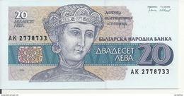 BULGARIE 20 LEVA 1991 UNC P 100 - Bulgaria
