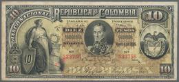 Colombia / Kolumbien: Banco Nacional De La República De Colombia 10 Pesos 1895, P.236, Great Conditi - Kolumbien