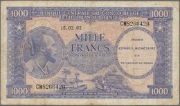 Congo / Kongo: Conseil Monétaire De La République Du Congo 1000 Francs 1962, P.2, Still Intact With - Congo