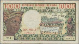 Congo / Kongo: République Populaire Du Congo 10.000 Francs ND(1974-81), P.5a, Still Nice And Rare No - Non Classés