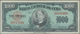Cuba: Pair With 10 Pesos 1938 P.71d (F-/F) And 1000 Pesos 1950 P.84a (VF+). (2 Pcs.) - Cuba