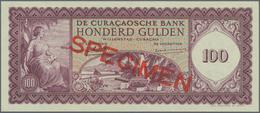 Curacao: De Curacaosche Bank 100 Gulden 1958 SPECIMEN, P.49s In Perfect UNC Condition. Very Rare! - Banknoten