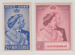 MONTSERRAT 1949  1948 RSW  MNH  SET SG 115/116 SUPERB STAMPS - Montserrat