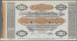 """Czechoslovakia / Tschechoslowakei: 10.000 Kronen """"Cassa-Schain"""" Issued By The Anglo-Österreichische - Tschechoslowakei"""