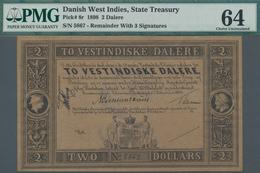 Danish West Indies / Dänisch Westindien: State Treasury Of The Danish West Indies 2 Dalere 1898 Rema - Denmark