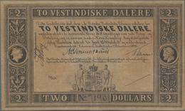 Danish West Indies / Dänisch Westindien: 2 Westindiske Dalere L.1849 (1898) Remainder, P.8r, Very Ni - Denemarken
