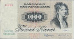 Denmark  / Dänemark: Danmarks National Bank 1000 Kroner (19)86, P.53f, Tiny Dint At Lower Left, Othe - Denemarken