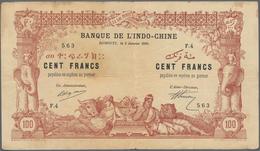 Djibouti / Dschibuti: Banque De L'Indo-Chine - Djibouti 100 Francs 1920, P.5, Still Intact With Ligh - Djibouti