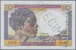 Djibouti / Dschibuti: Banque De L'Indo-Chine - Djibouti 10 Francs ND(1962) SPECIMEN, P.19s In UNC Co - Djibouti