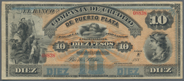 Dominican Republic / Dominikanische Republik: Banco De La Compañia De Crédito De Puerto Plata 10 Pes - Dominicana