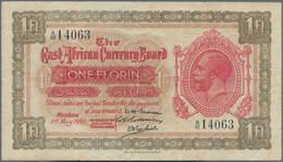 East Africa / Ost-Afrika: The East African Currency Board 1 Florin 1920, P.8, Excellent Condition, S - Banknotes