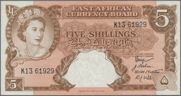 East Africa / Ost-Afrika: The East African Currency Board 5 Shillings ND(1958-60) Queen Elizabeth II - Banknotes