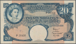 East Africa / Ost-Afrika: The East African Currency Board 20 Shillings ND(1958), P.39, Very Nice Not - Banknotes