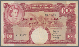 East Africa / Ost-Afrika: East African Currency Board 100 Shillings ND(1958-60), Queen Elizabeth II - Banknotes