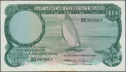 East Africa / Ost-Afrika: Pair With 10 Shillings ND(1964) P.46 (VF) And 20 Shillings ND(1964) P.47 ( - Banknotes