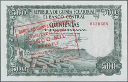 Equatorial Guinea / Äquatorialguinea: Pair With 1000 Bipkwele 1980 On 100 Pesetas Guineanas P.18 (UN - Equatoriaal-Guinea