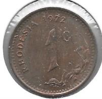 * Rhodesia  1 Cent 1972  Km 10   Xf+ !!!! - Rhodesia