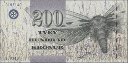 Faeroe Islands / Färöer: Pair With 200 Kronur (20)03 P.26 (UNC) And 500 Kronur (20)04 P.27 (UNC). (2 - Faroe Islands
