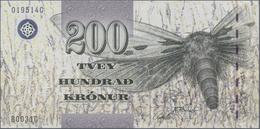 Faeroe Islands / Färöer: Pair With 200 Kronur (20)03 P.26 (UNC) And 500 Kronur (20)04 P.27 (UNC). (2 - Islas Faeroes