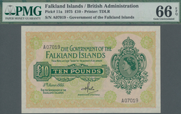 Falkland Islands / Falkland Inseln: The Government Of The Falkland Islands 10 Pounds June 5th 1975, - Falklandeilanden