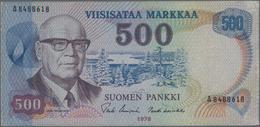 Finland / Finnland: Pair With 100 Markkaa 1945 Litt.B, P.88 (VF) And 500 Markkaa 1975 P.110 (VF). (2 - Finlandia