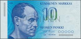 Finland / Finnland: Suomen Pankki / Finlands Bank 10 Markkaa 1986 With Signatures: Uusivirta And Häm - Finlandia