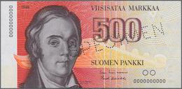 Finland / Finnland: Suomen Pankki / Finlands Bank 500 Markkaa 1986 With Signatures: Lindblom And Koi - Finlandia