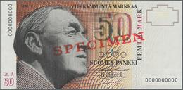 Finland / Finnland: Suomen Pankki / Finlands Bank 50 Markkaa 1986, Litt. A, With Signatures: Puntila - Finland